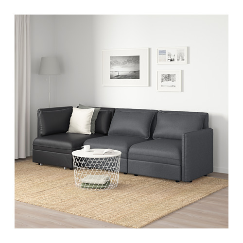 VALLENTUNA Trīsviet. mod. dīvāns ar guļv.