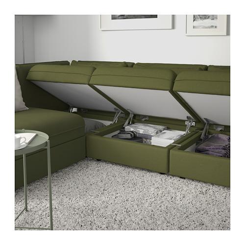 VALLENTUNA Trīsv. stūra mod. dīvāns ar guļv.