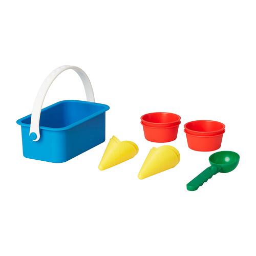 SANDIG smėlio žaislų rinkinys, 10 vnt.