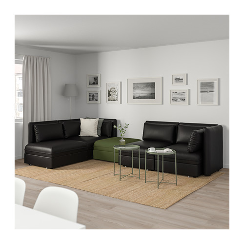 VALLENTUNA keturvietė mod. sofa, 3 sofos-lovos