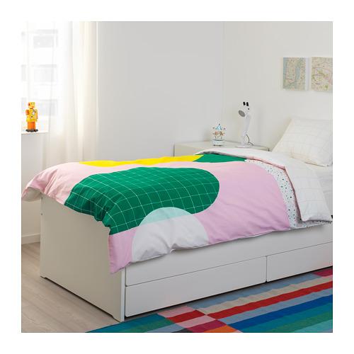 SLÄKT gultas rāmis ar apakšr un glab.nod.