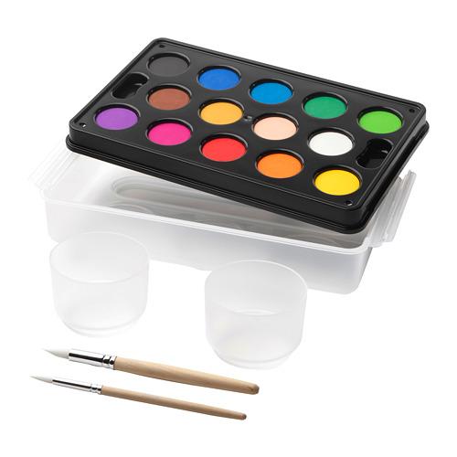 MÅLA akvareliniai dažai dėžutėje