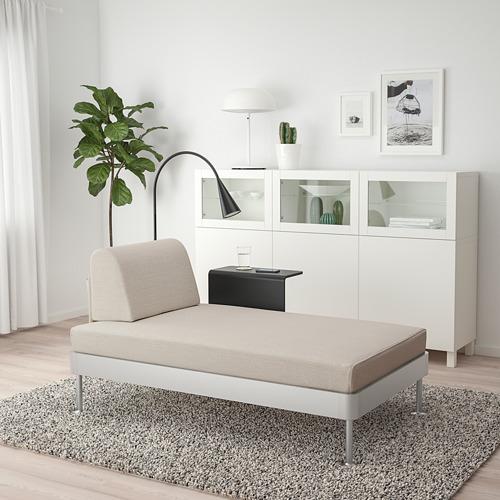 DELAKTIG gultas, staliukas ir šviestuvas