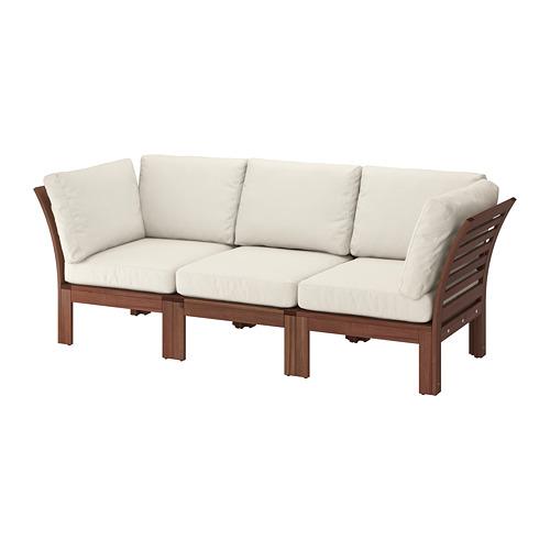 ÄPPLARÖ Trīsvietīgs moduļu dīvāns, āra