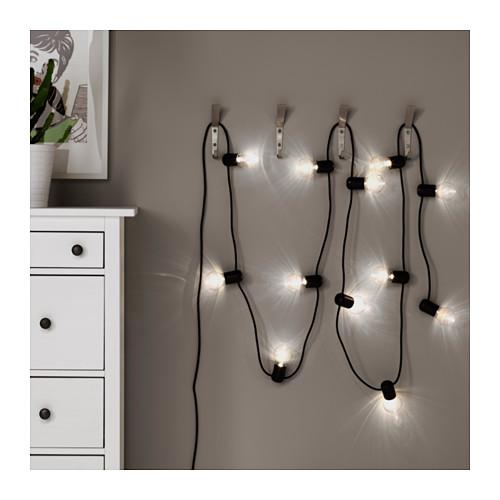 SVARTRÅ 12 LED lempučių girlianda