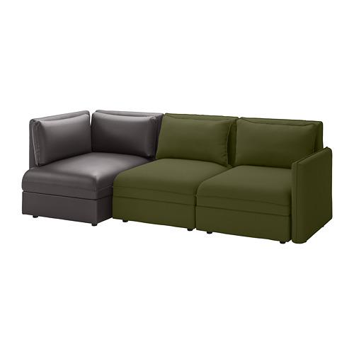 VALLENTUNA trivietė mod. sofa su sofa-lova