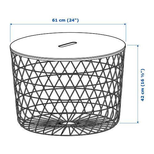 KVISTBRO stalas-dėžė