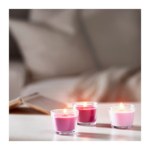 BRÄCKA smaržīgā svece stikla traukā