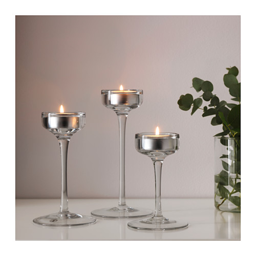 BLOMSTER candle holder, set of 3