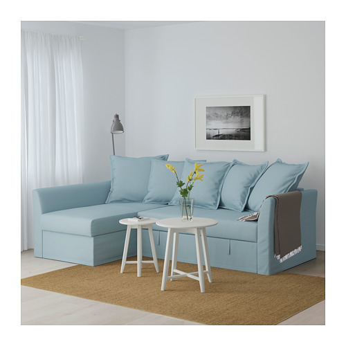 HOLMSUND kampinė sofa-lova