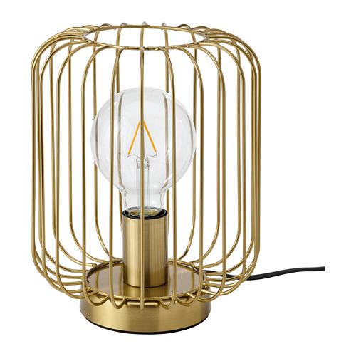 FLAGGSKEPP galda lampa, 25x Ø20 cm,  ar misiņa pārklājumu