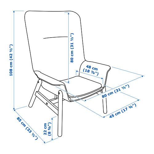 VEDBO fotelis su aukšta atkalte