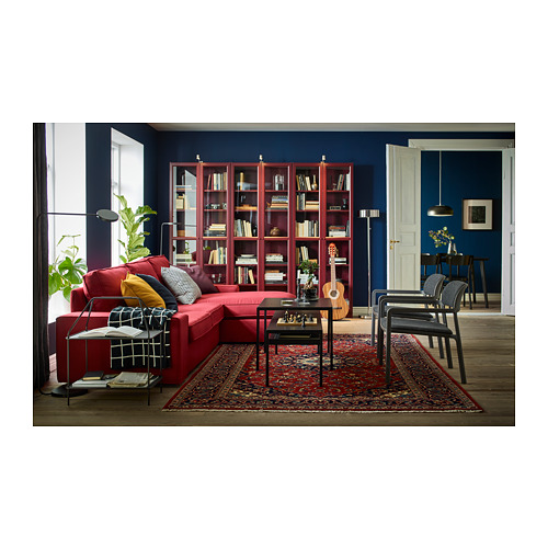 BILLY bookcase with glass-doors