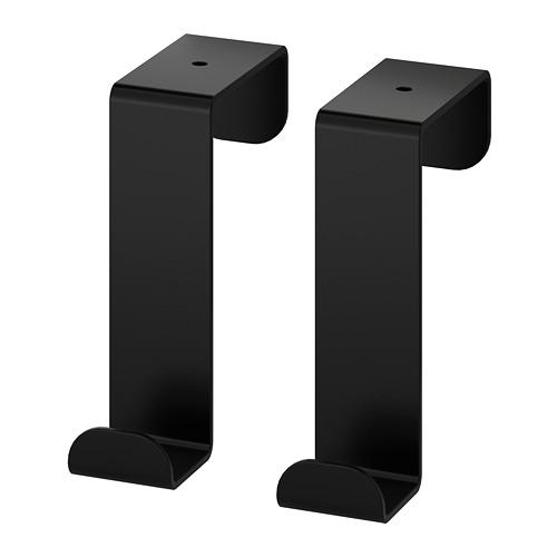 SKOGSVIKEN durvju pakaramais, melnā krāsā, 6cm