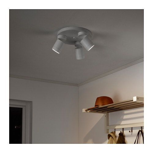 NYMÅNE ceiling spotlight with 3 spots