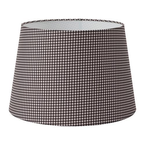 LÅGVIND abažūrs, 44 cm rūtis melnā krāsā/smilškrāsā