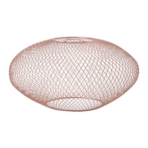 LUFTMASSA abažūrs, 37 cm rozā zelta krāsā ovāls
