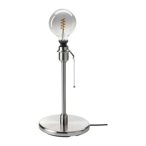KRYSSMAST/ROLLSBO galda lampas pamatne ar spuldzi