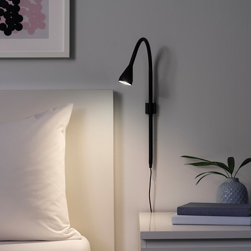 NÄVLINGE LED wall/clamp spotlight