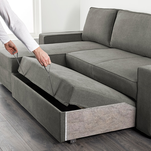 VILASUND sofa bed with chaise longue