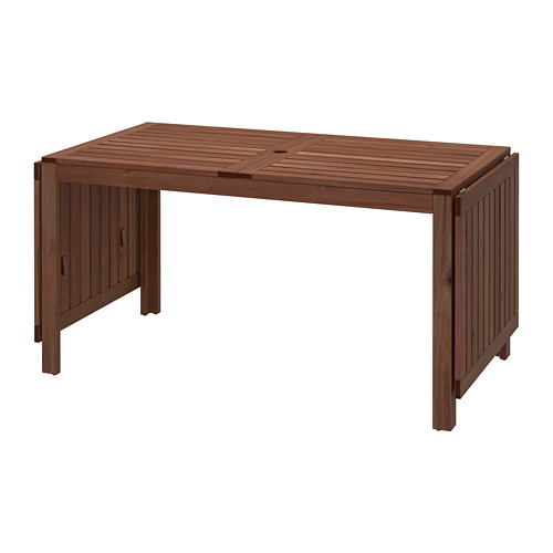 ÄPPLARÖ drop-leaf table, outdoor