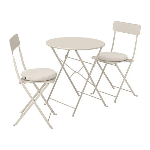 SALTHOLMEN lauko stalas+2 sulanks. kėdės