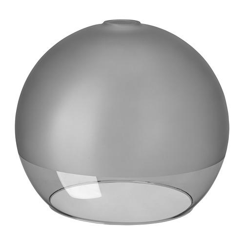 JAKOBSBYN griestu lampas abažūrs, 30x25x Ø30 cm matēts stikls/pelēkā krāsā