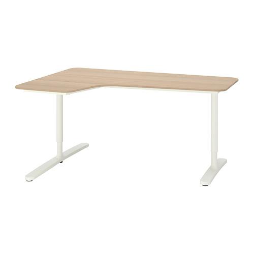 BEKANT kampinis rašomasis stalas, kair.