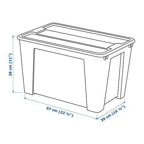SAMLA box with lid