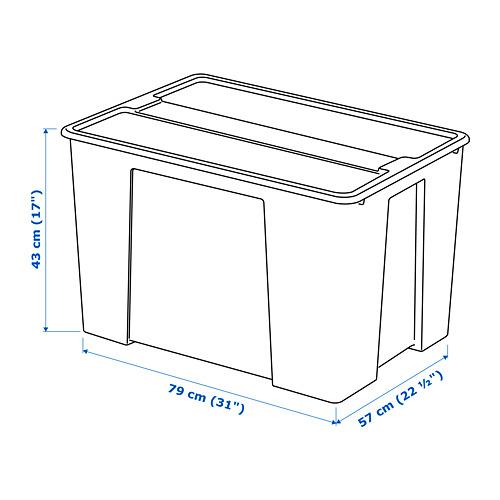 SAMLA kaanega kast