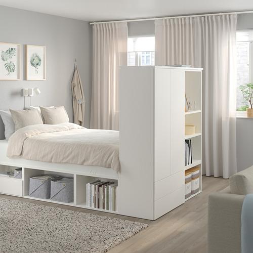 PLATSA lovos rėmas su 2 dur., 3 stalč.