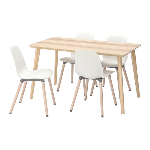 LEIFARNE/LISABO table and 4 chairs