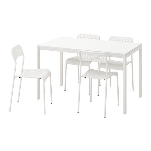 ADDE/MELLTORP galds un 4 krēsli