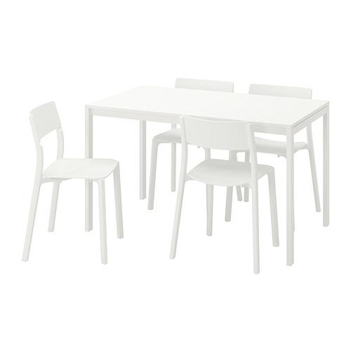MELLTORP/JANINGE stalas ir 4 kėdės