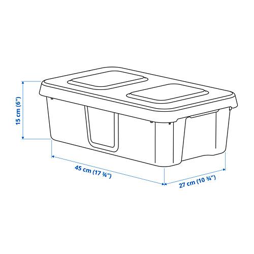 KLÄMTARE dėžė su dangčiu, vidaus ir lauko