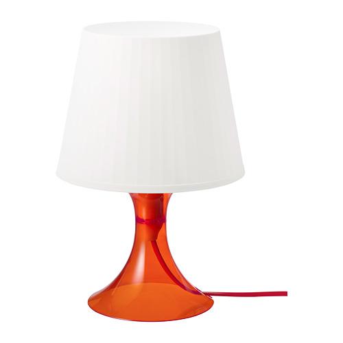 LAMPAN galda lampa, 29 cm, oranžā krāsā/baltā krāsā