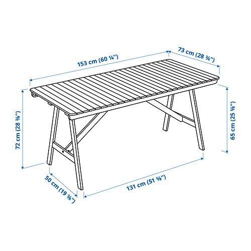 FALHOLMEN galds, āra