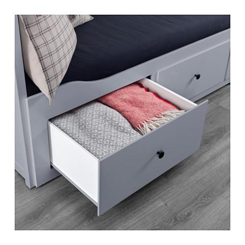 HEMNES gultas rāmis ar 3 atvilktnēm