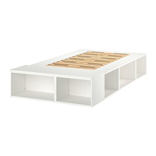 PLATSA gultas rāmis ar mantu glabātavu