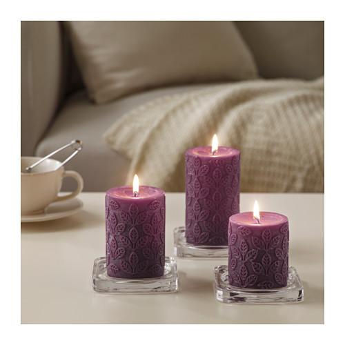 NJUTNING kvapiosios forminės žvakės, 3 vnt.