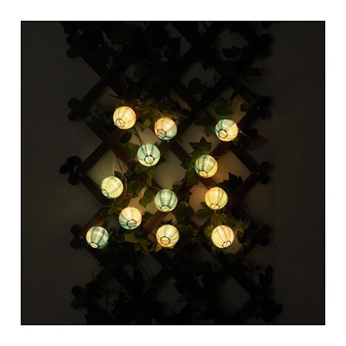 SOLVINDEN lempučių girliandos papuošimas