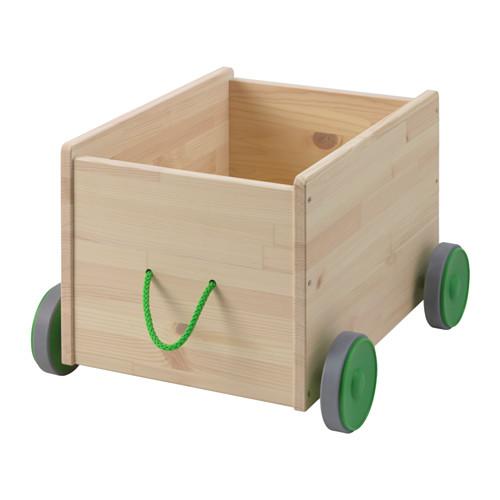 FLISAT rotaļlietu kaste uz ritentiņiem