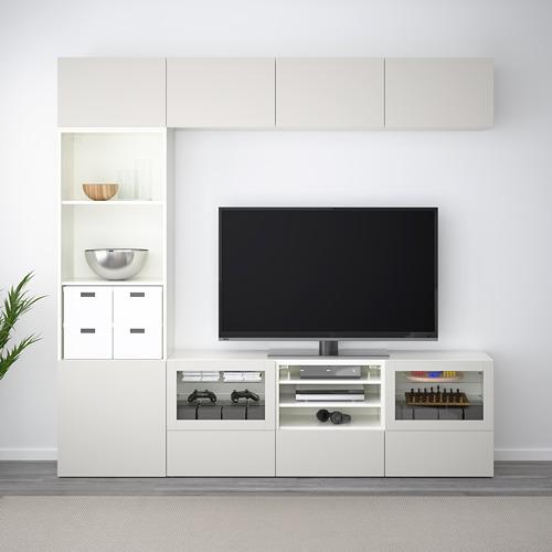 BESTÅ TV baldų derinys, stiklinės durelės