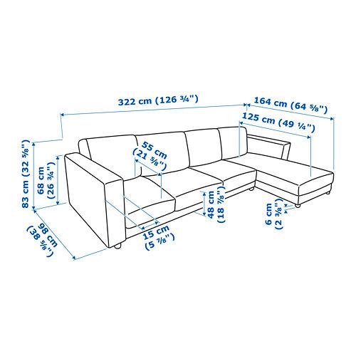 VIMLE četrvietīgs dīvāns