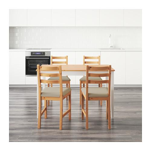 LERHAMN stalas ir 4 kėdės