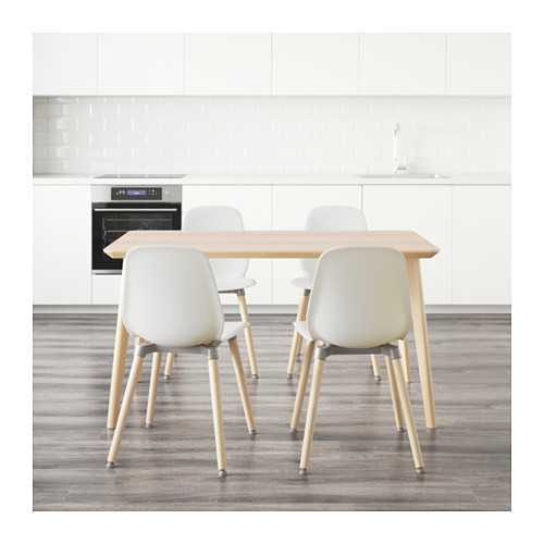 LEIFARNE/LISABO stalas ir 4 kėdės