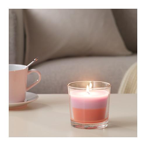 FORTGÅ aromatizētā svece stikla traukā
