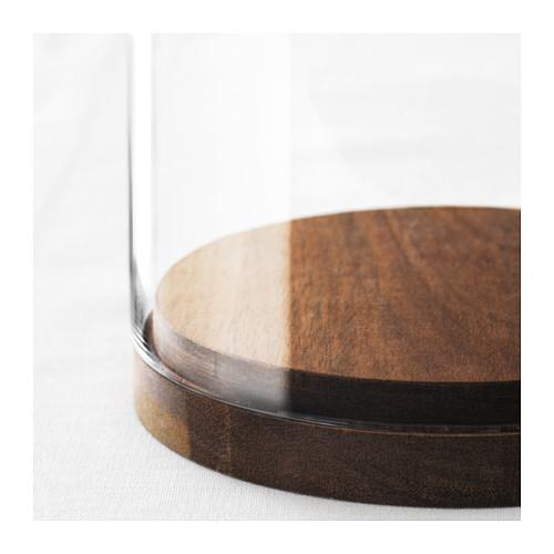 HÄRLIGA stiklinis gaubtas su pagrindu
