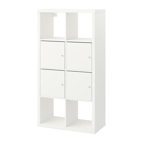 KALLAX shelving unit with doors