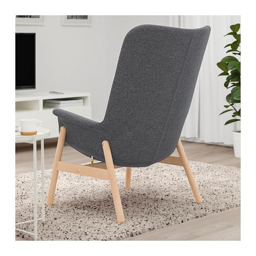 VEDBO atpūtas krēsls ar augstu atzveltni